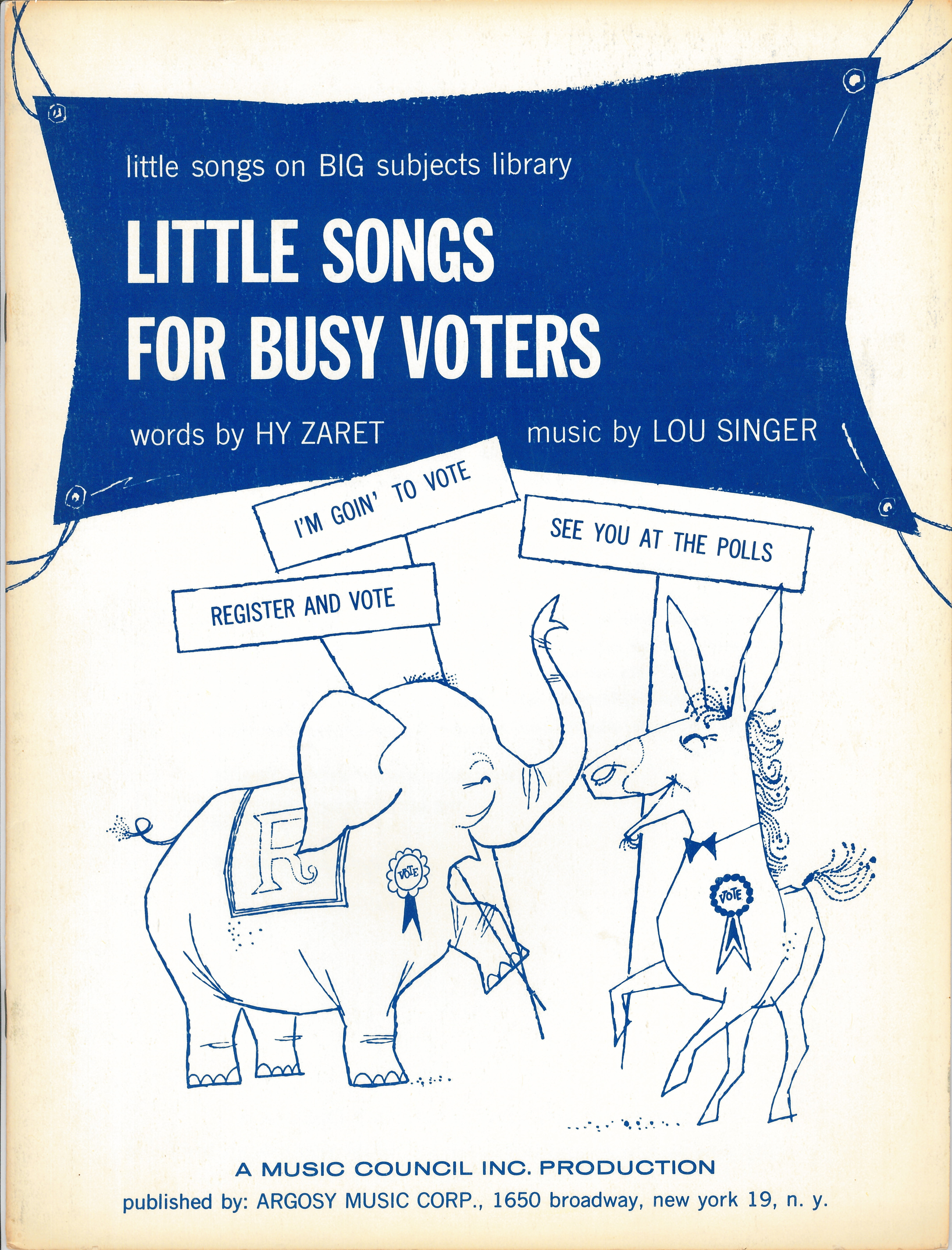 Little Songs for Busy Voters - Hy Zaret